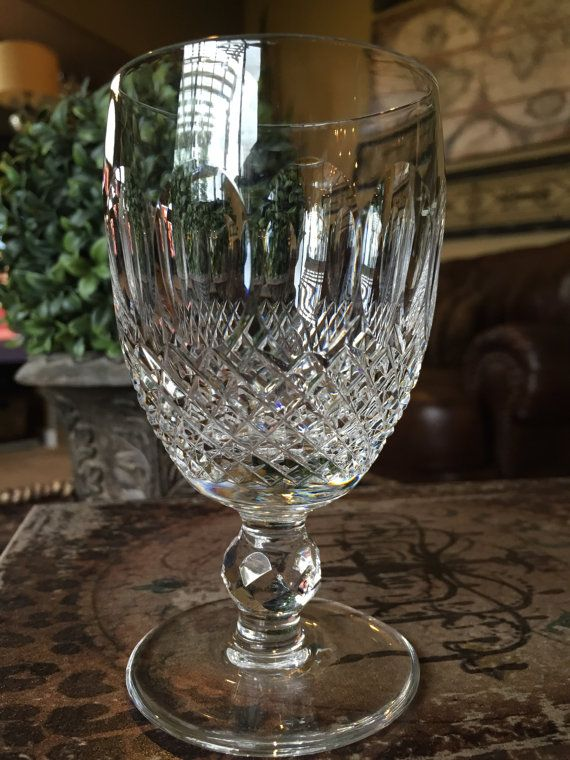 Waterford Crystal Claret Wine Glass In The 1968 Colleen Short