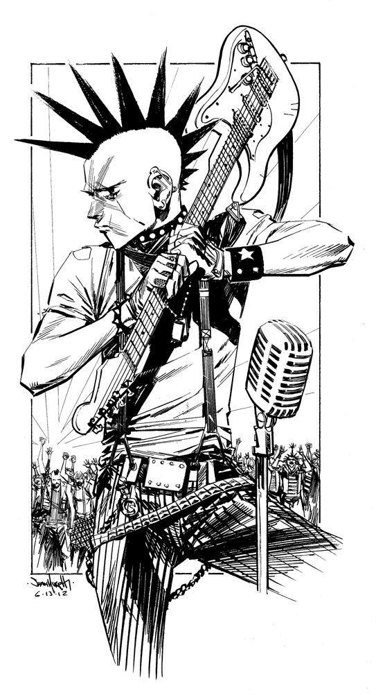 Punk Rock Jesus | Ilustraciones | Punk dibujo, Punk y Arte