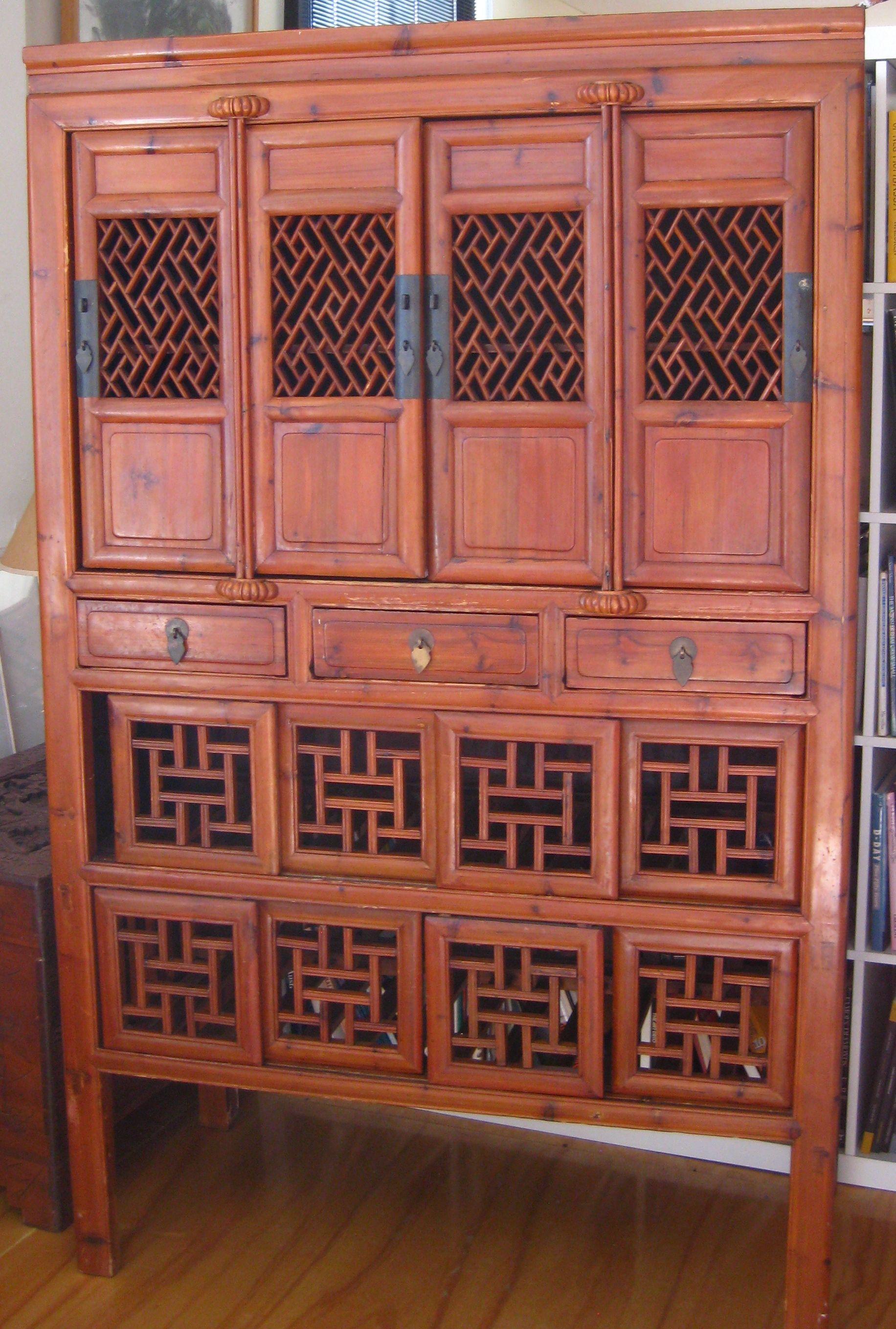 Antique Chinese Kitchen Dresser 20 high x 20 deep x 20 wide ...