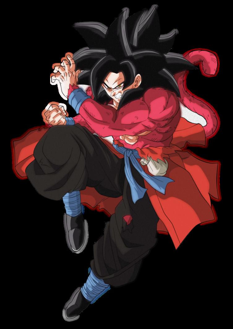 goku xeno ssj4 by andrewdragonball anime dragon ball