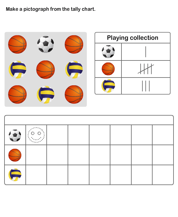 Practice Graph and Tally Chart | Printable Pictograph Worksheets for ...
