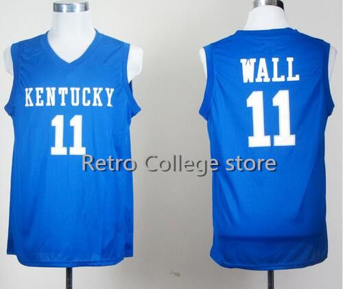 new arrival 68813 8ca7c Men Kentucky Wildcats College Jerseys 11 John Wall 23 ...