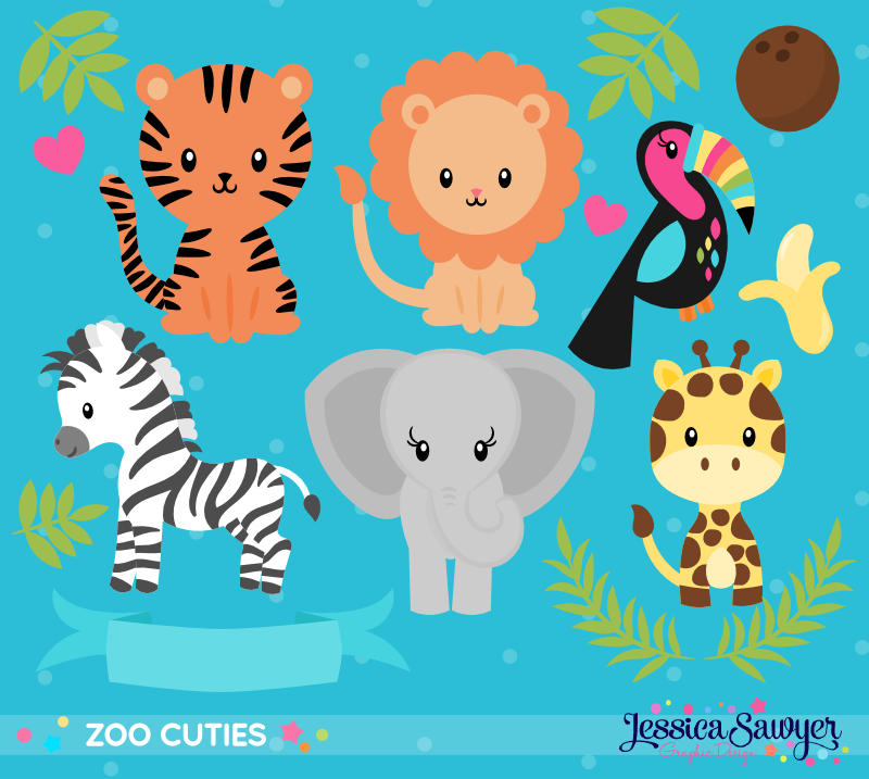 INSTANT DOWNLOAD, Zoo Animal Clipart in 2020 Clip art