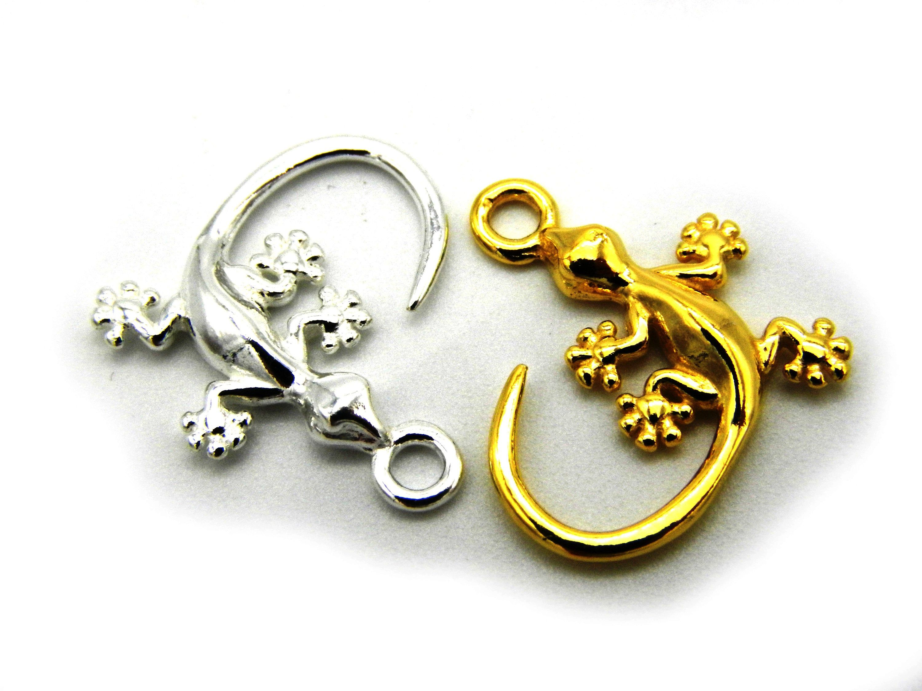 17mm Silver Yellow Plated Saying Charm