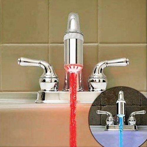 Questo apparato Led Color per rubinetto cambia il colore dell'acqua a seconda della sua temperatura e darà un tocco magico e variopinto al tuo lavandino.