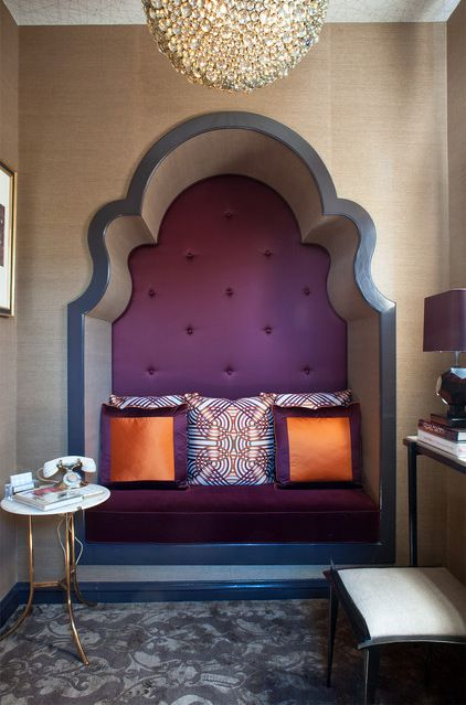 Luxury Showcase For Living Room Royal Art Deco: Alcove Given Art Deco Arch In Powder Room By Kristi Will