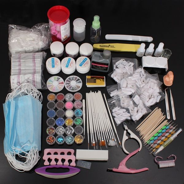 Professional 40pcs Nail Art Acrylic Powder Uv Gel Tool Set Nail Art Kit Acrylic Nail Kit Nail Art Tools