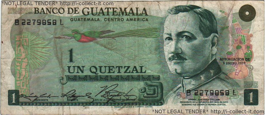 Guatemala S Currency The Quetzal 1 Is Equal To 0 13 Us Dollars