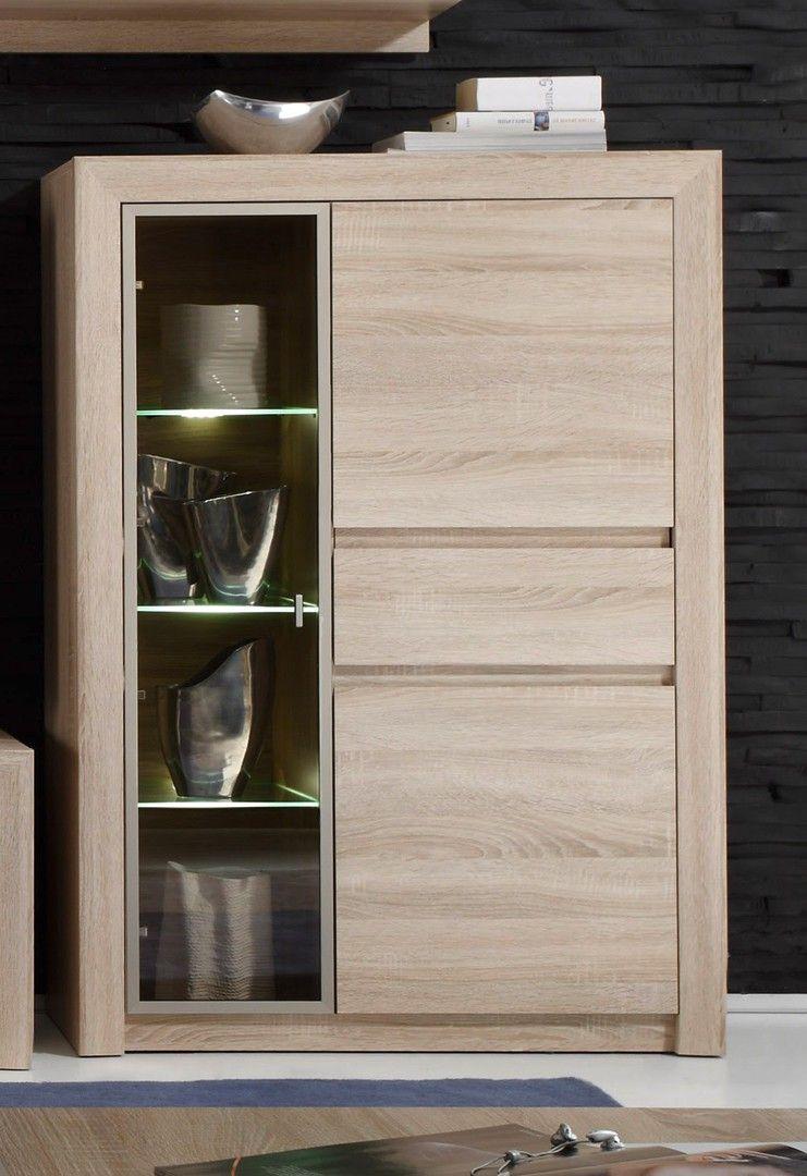 Design Meuble Salon Bois Clair Vitrine
