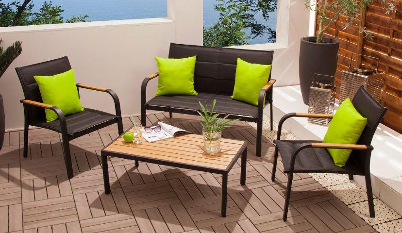 Salon De Jardin 4 Places En Vente Chez Delamaison Canape Jardin Idees De Decoration Interieure Salon De Jardin