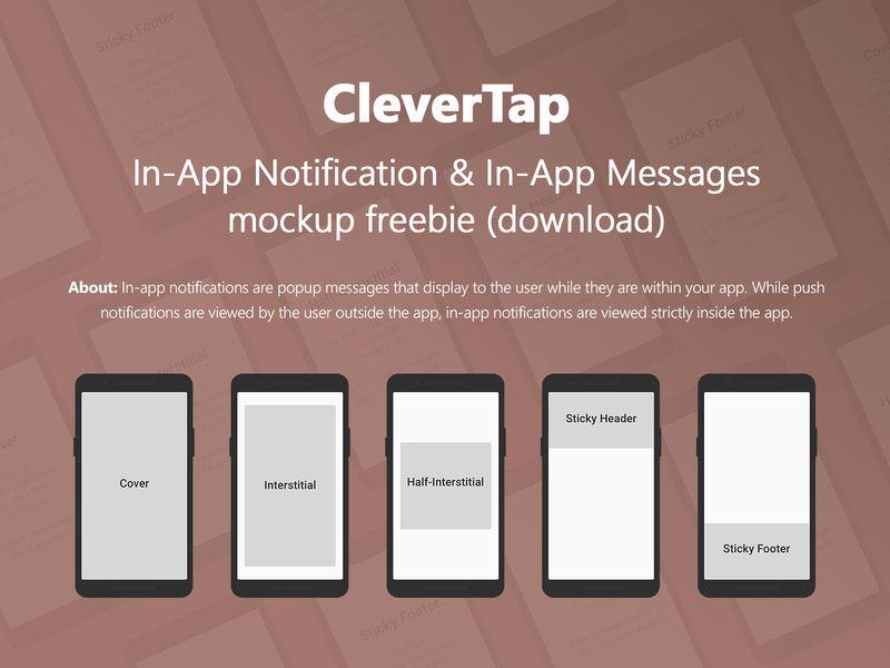 Clevertap In App Notification Messages Mockup Freebie Messages Freebie App