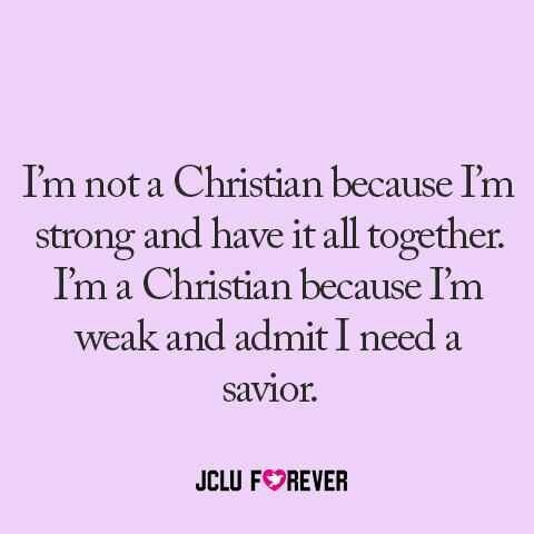 Oh yes! I need Jesus in my life. This is very true.