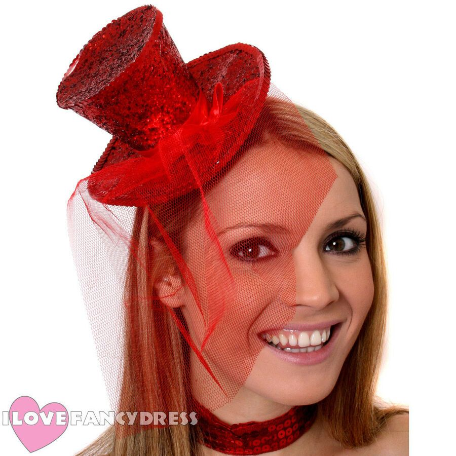Ladies Halloween Headband Womens Mini Top Hat Fancy Dress Costume Accessory