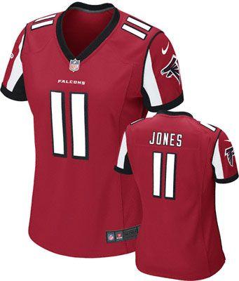 Julio Jones Women s Jersey  Home Red Game Replica  11 Nike Atlanta Falcons  Women s Jersey 9050e9e0ae