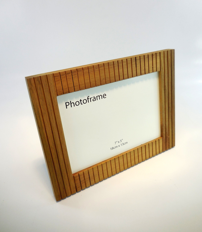 Modern Photo Frame 5x7 Picture Frame Wood Picture Frame Embossed Frame Rustic Photo Frame Farmhouse Frame Hardwood Frame Natural Wood With Images Photo Frame