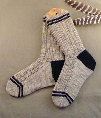 Men\'s Twin Rib Knit Sock Pattern | Medias y Damas