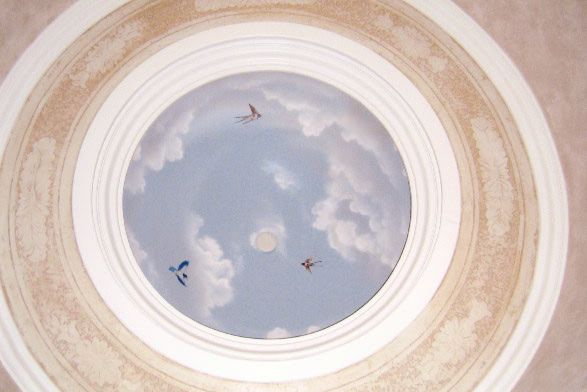 My next project! Realistic cloud mural on ceiling...... I love ...