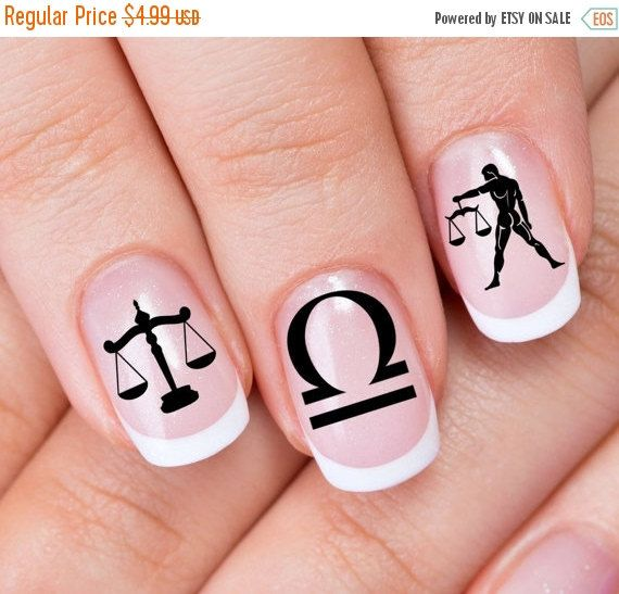 Libra nail art zlb 30 zodiac astrology symbols scales of justice libra nail art zlb 30 zodiac astrology symbols scales of justice decals waterslide stickers black on clear for use over any color polish prinsesfo Choice Image