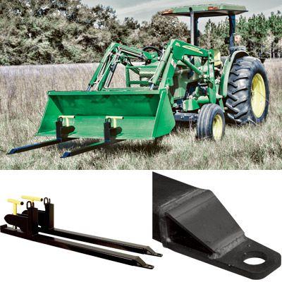 Load Quip Steel Bucket Forks 1 600 Lb Capacity Black