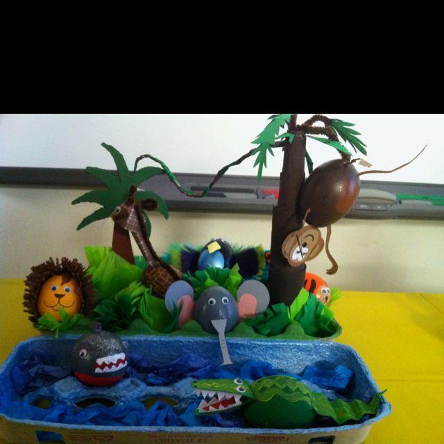 Egg Decorating Contest Jungle Fever Craft Ideas