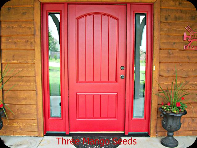 Front Door Sprucing Front Door Design Red Front Door Front Door Makeover