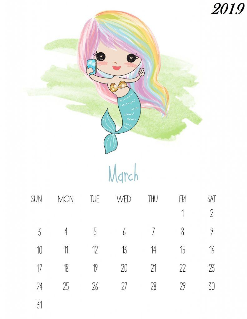 Free Printable March 2019 Kids Calendar Wallpaper Lucu Kalender