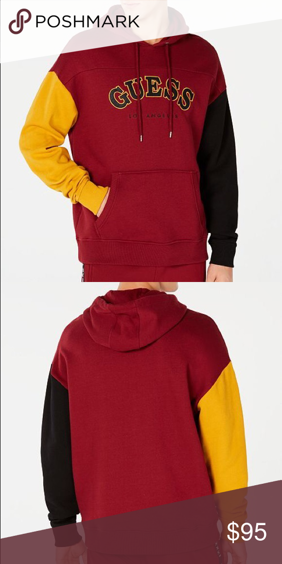 Men's guess colorblocked hoodie Brand new with tags Retail