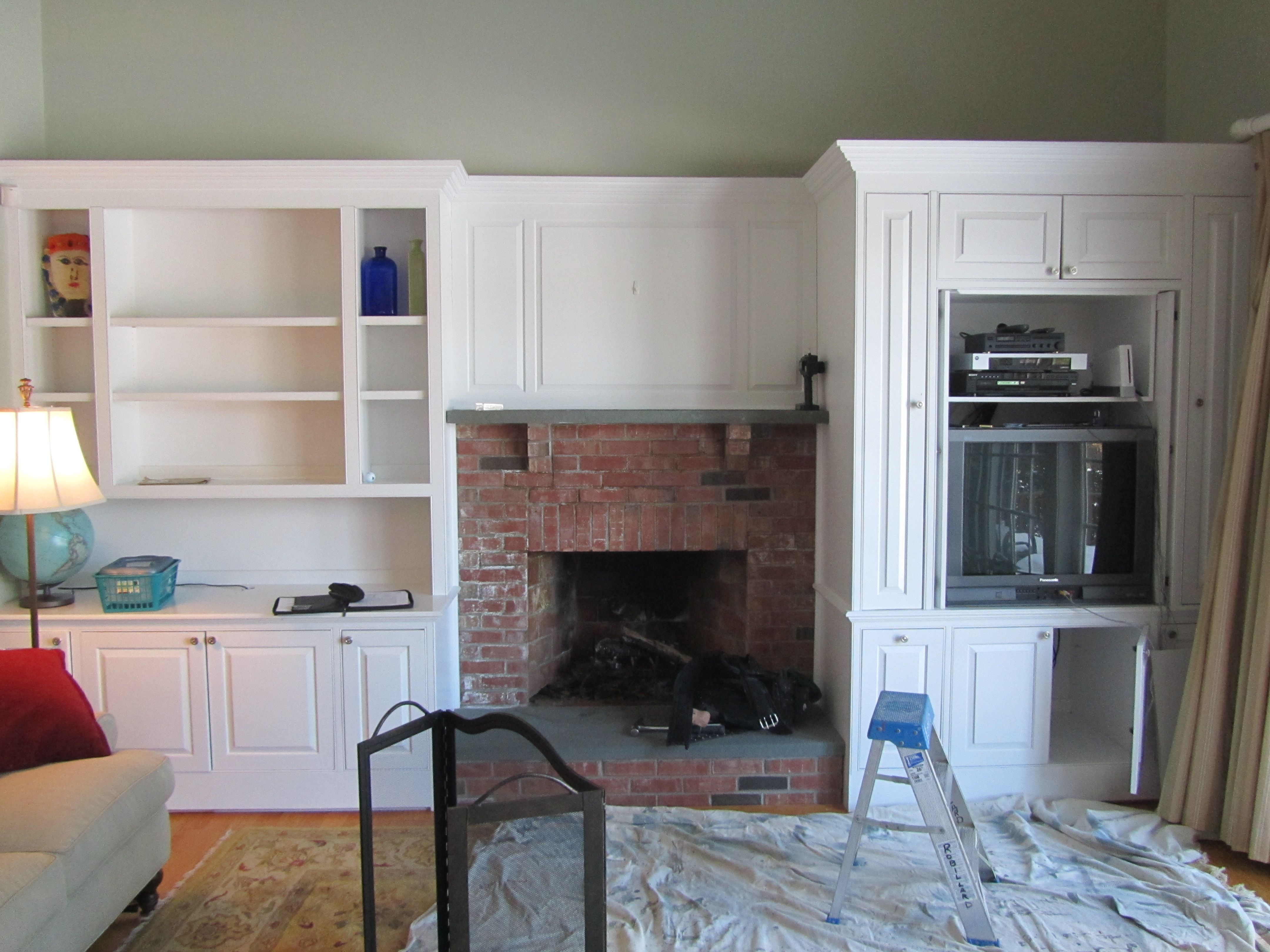 Living Room Bookcases Built In Fireplace Design With Bookcases Installing A Custom Bookcase And