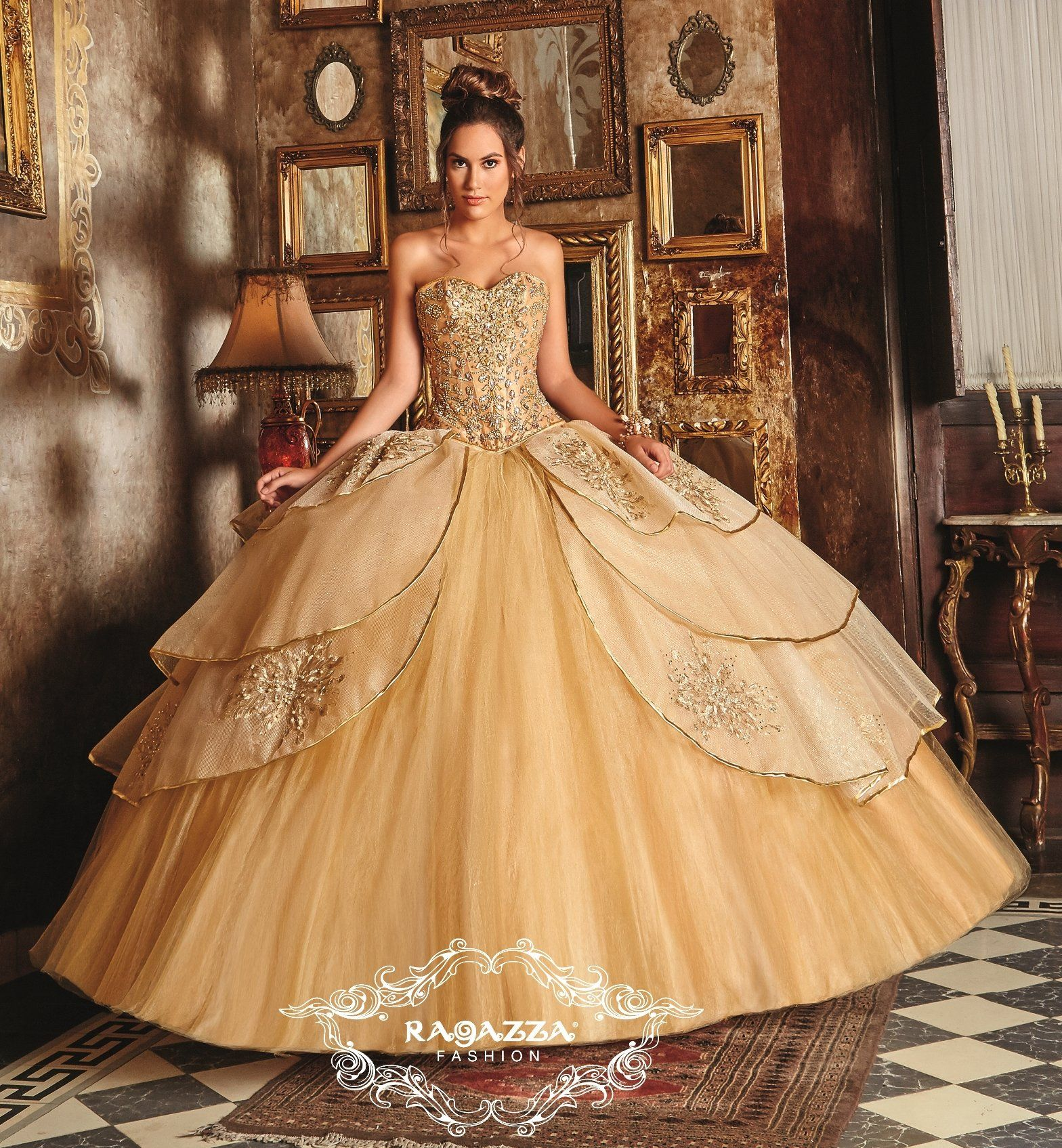 ba7c9e871 Embellished A-line Quinceanera Dress by Ragazza Fashion B84-384 in ...