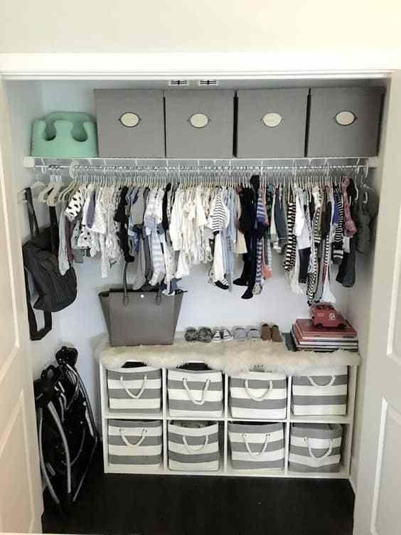 Nursery Organizing Hacks   Nursery closet organization ...