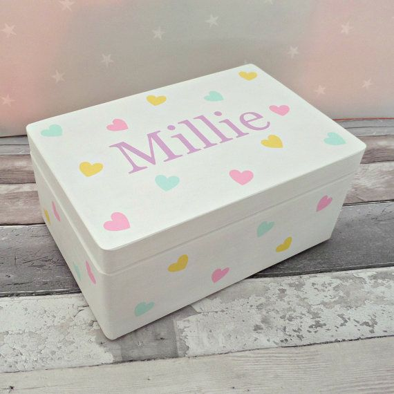 Baby Bedroom In A Box Special: Personalised Children's Keepsake Memory Box. Hand Painted