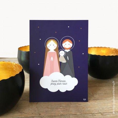 Carte Postale Sainte Famille Priez Pour Nous A Envoyer A Vos
