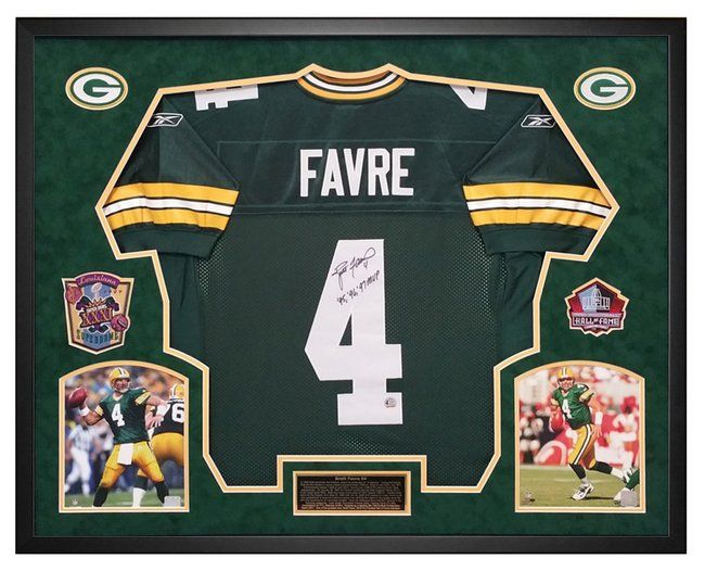 b6084c85beb Brett Favre Green Bay Packers Autographed Jersey - Custom Framed Shadow  Box, has the Brett Favre Hologram! Comes with a picture of Brett signing  too!