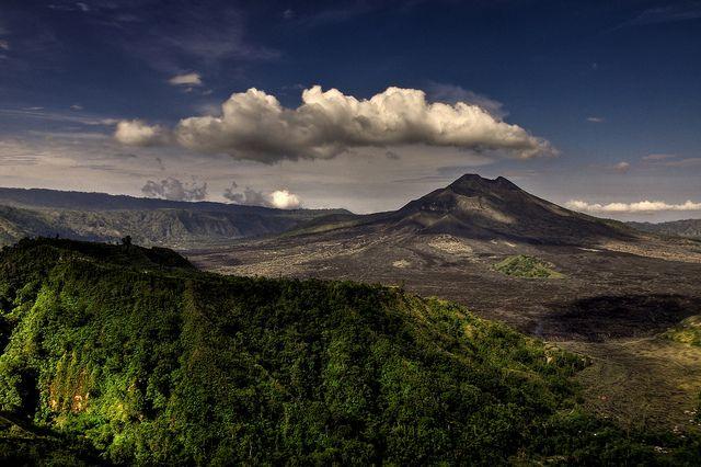 Mount Batur, active volcano in Bali, Indonesia
