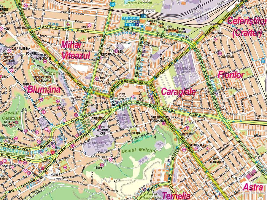 Harta Strazi Brasov Hartă