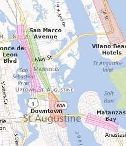 St Augustine Florida Map.St Augustine Homeward Bound Places I Ve Called Home Pinterest