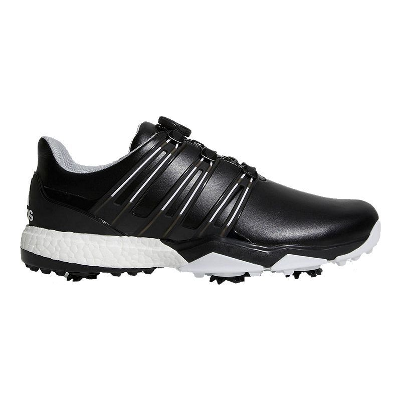 Adidas Golf Men S Powerband Boa Boost Golf Shoes Black Whote