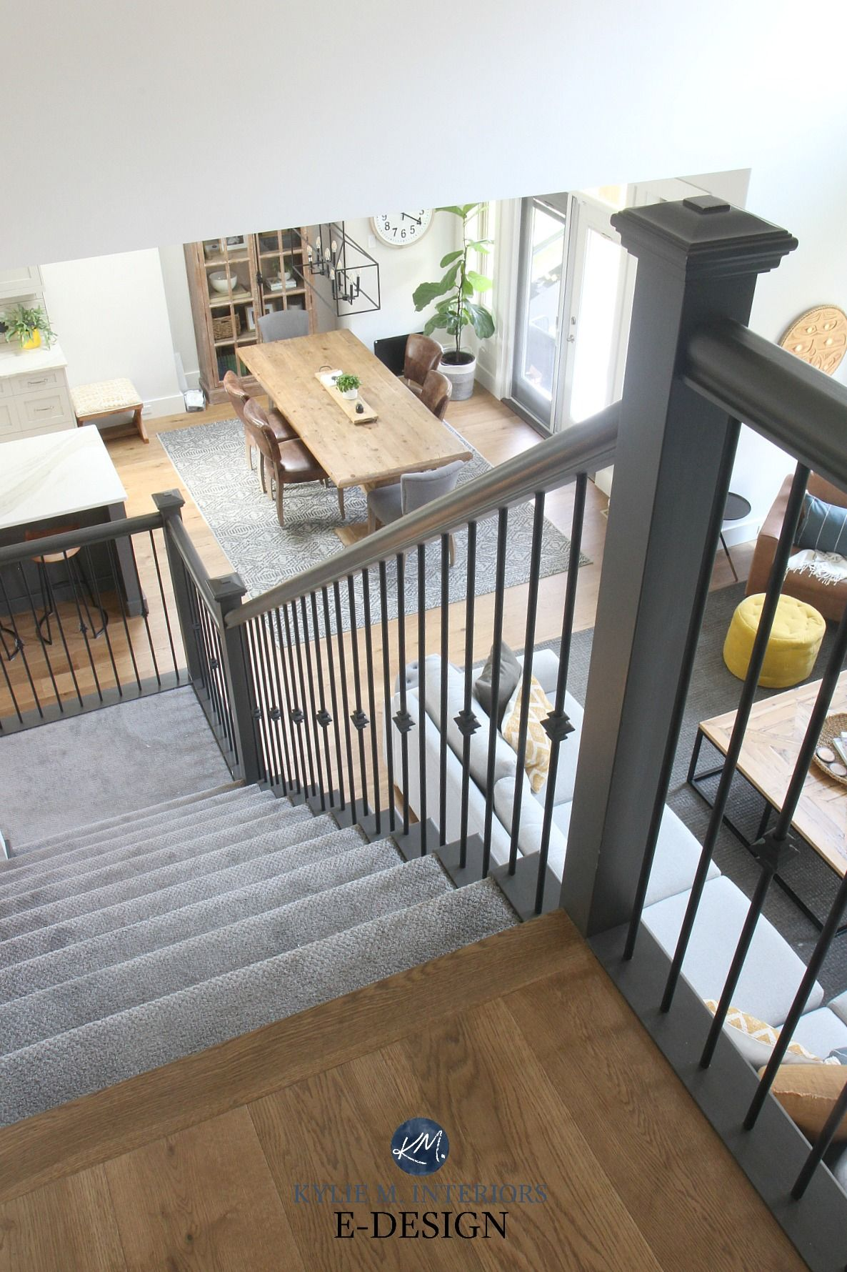 Our Open Layout Living Room Before And After Photos In 2020 Staircase Layout Stairs In Living Room Interior Stair Railing #open #staircase #in #living #room