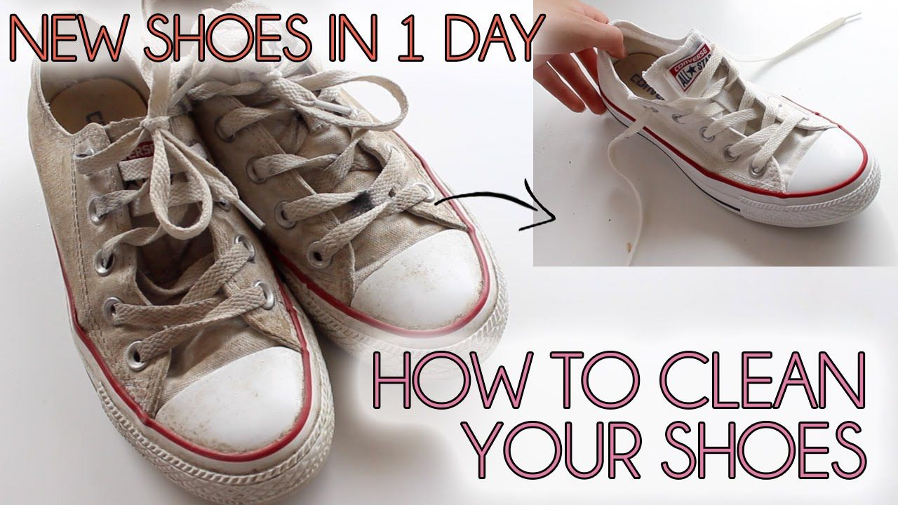 How To Clean Your Shoes Easy Converse Vans Canvas Shoes How To Clean White Shoes Toms Shoes Outfits How To Clean White Converse