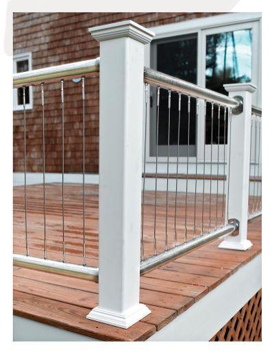 Vertical Cable Railing - Deck | Hydrangeas | Pinterest | Decking ...