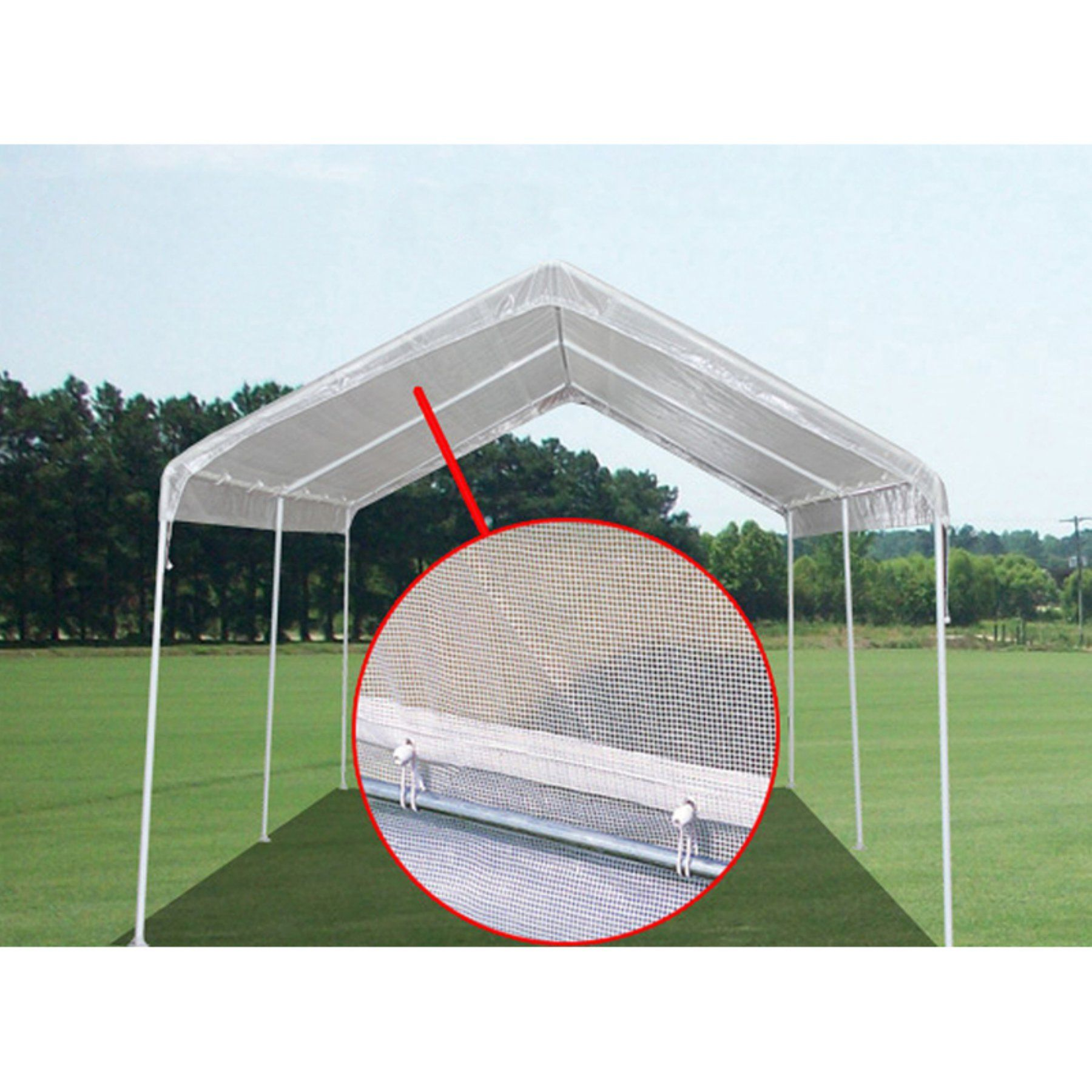 King Canopy 10 x 20 ft. Green House Canopy Cover ...