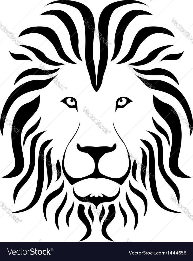 Vector Image Of Lion Silhouette Includes Logo Black Hair Style Illustrator Ai EPS PDF And JPG Formats