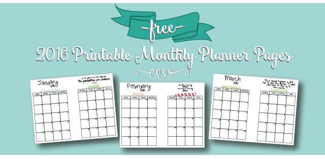 Free Printable 2016 Monthly Calendar A5 Pages Live Craft Eat A5 Monthly Calendar Planner Printables Free Planner Calendar
