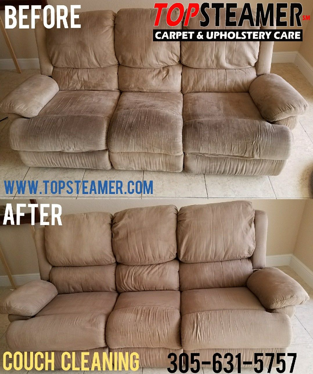 Beautiful Couch Cleaning Miami Gardens 305 631 5757 Https://www.topsteamer