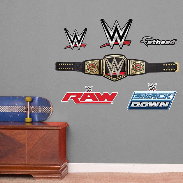 Exceptional WWE Title Belt   Fathead Jr Fathead Wall Decal