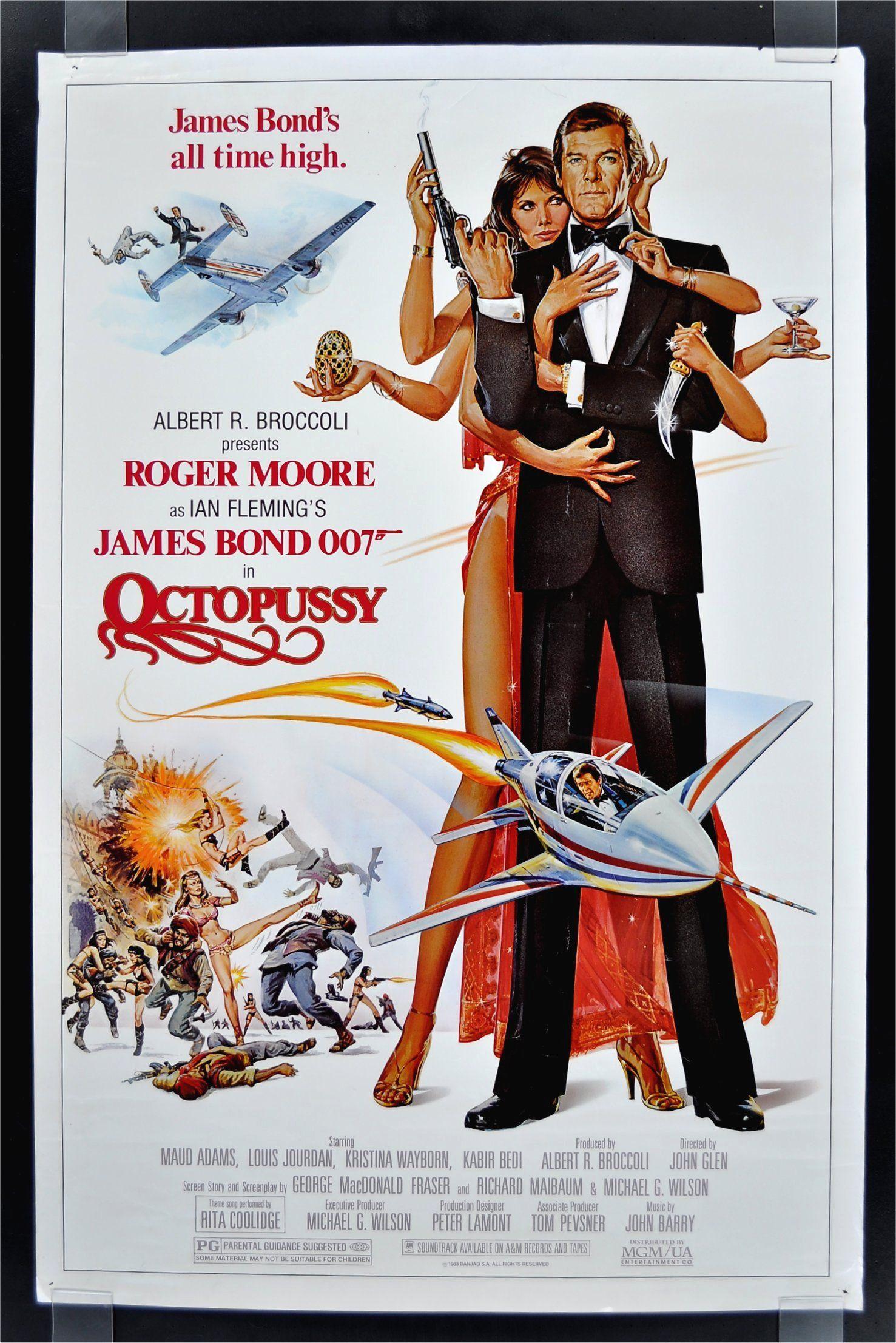 Octopussy (1983)   James bond movie posters, James bond