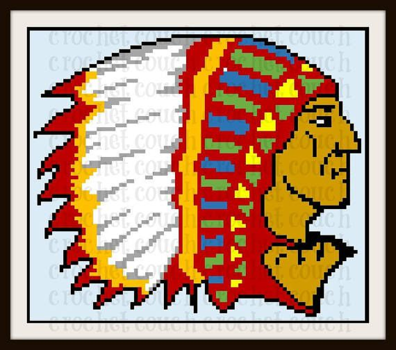 Indian Chief Afghan, C2C Crochet Pattern, Written Row Counts