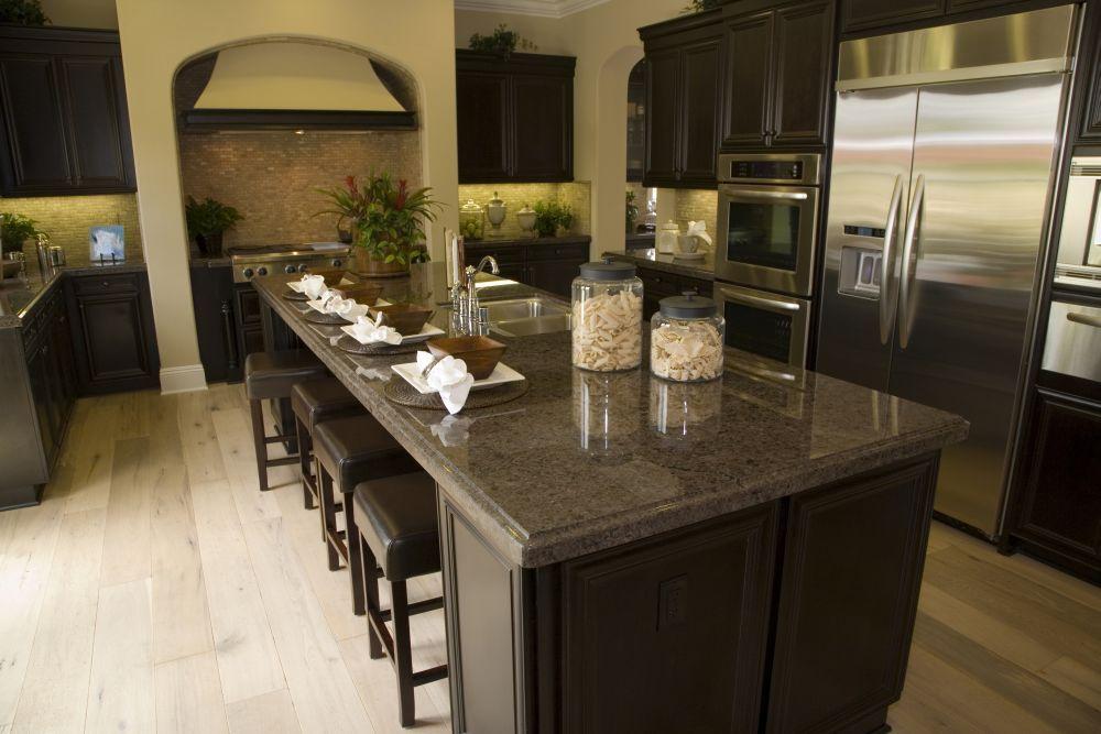 Kuchnia Z Wyspa Wymiary I Aranzacje Kitchen Design Kitchen Cabinet Color Schemes Espresso Kitchen Cabinets