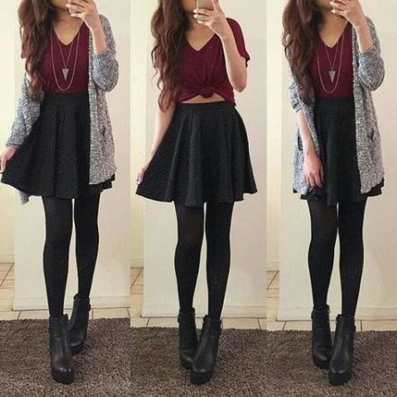 Photo of 41+ Ideas Skirt Outfits Black Skater For 2019