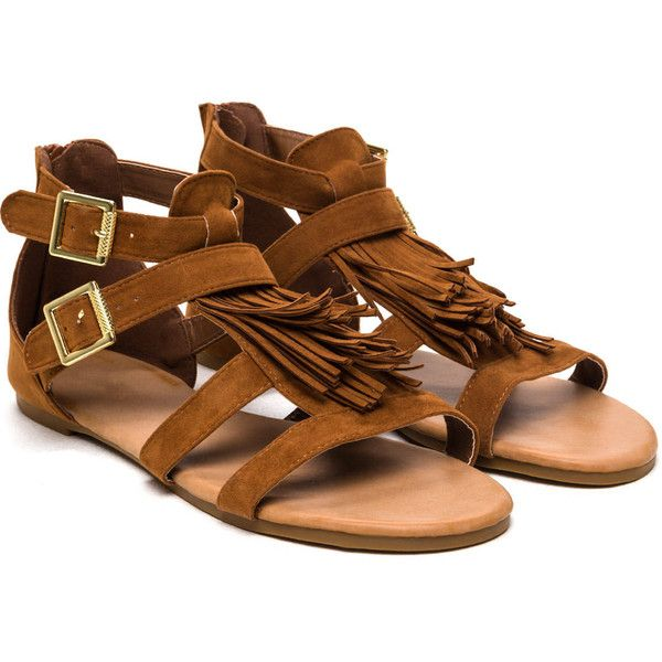 What The Fringe Gladiator Sandals (22 CAD) ❤ liked on Polyvore